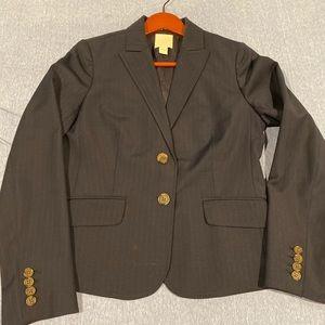 JCrew Navy Pinstripe Wool Suit 6/4
